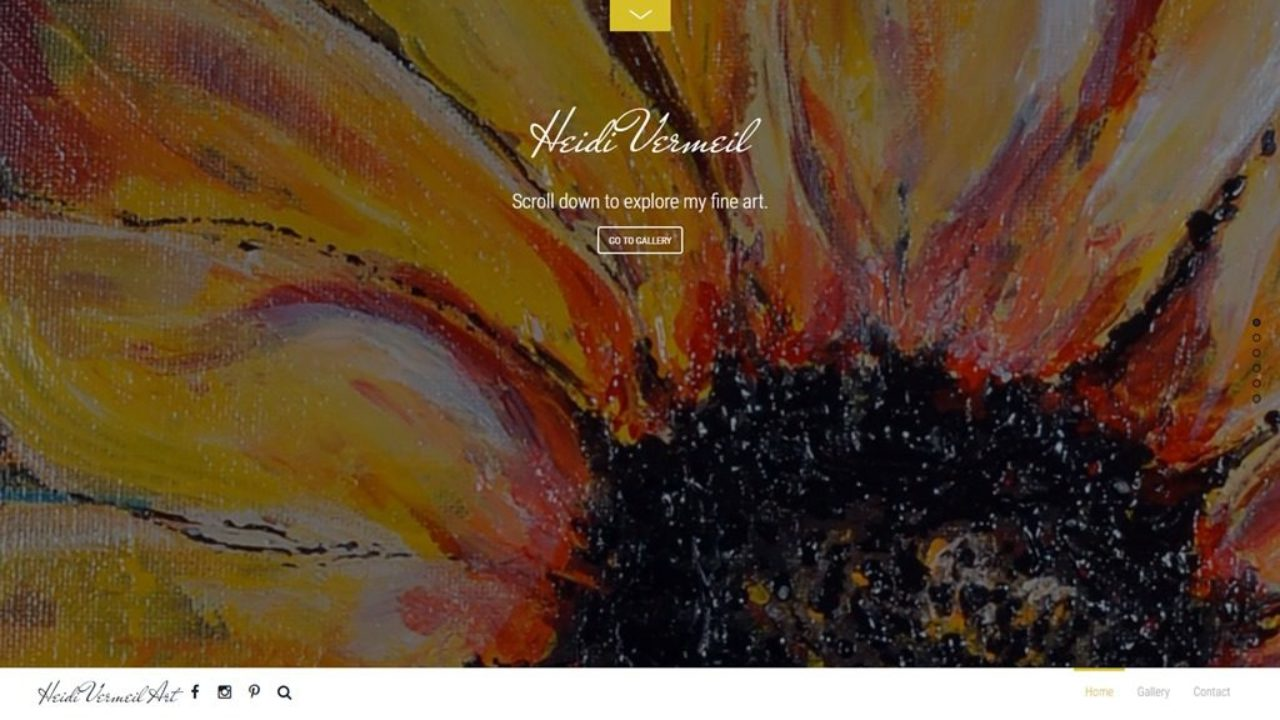 Сайт для художниці