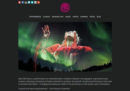 Сайт танцювального ансамблю