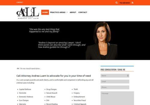 Веб-сайт для юриста - головна сторінка