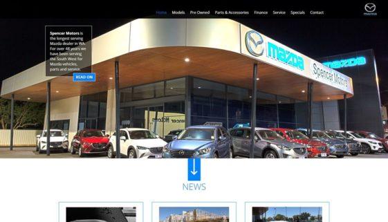 Сайт автосалону Mazda